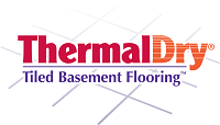 ThermalDry® tiled basement flooring