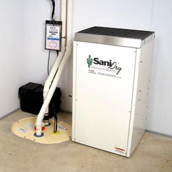An ENERGY STAR® Rated basement dehumidifier installed in a home in Owensboro