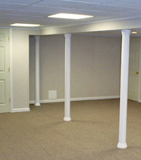 Smartpost column wrap on a basement in Vincennes