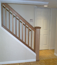 Renovated basement staircase in Jasper
