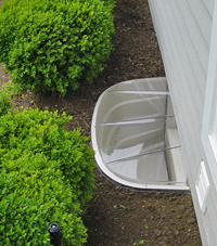 basement egress window well in Washington