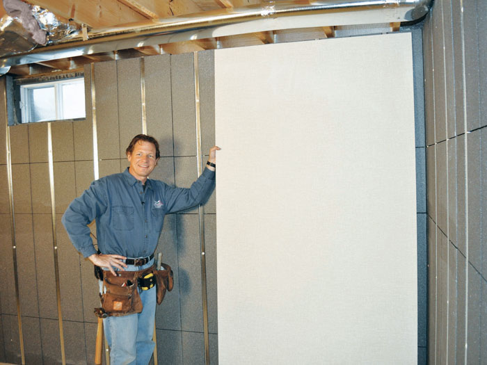 Bon ... We Recommend Installing Durable, Inorganic EverLast™ Wall Panels On Top  Of Our Basement To ...