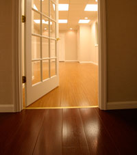 Basement Wood Flooring installed in Henderson, Indiana and Kentucky