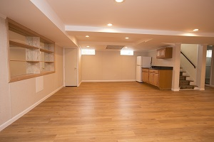 Basement finishing flooring in Evansville & nearby