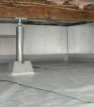Crawl space insulation with silverglo in indiana and for Crawl space insulation cost estimator