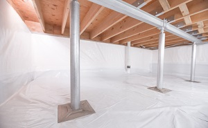 Crawl space structural support jacks installed in Chandler