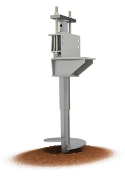 Illustration of a foundation helical pier system.