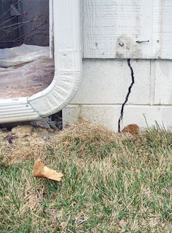 foundation wall cracks due to street creep in Petersburg