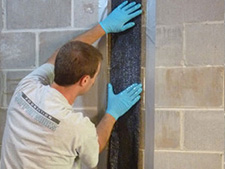 CarbonArmor® Strip applied to wall in Madisonville