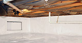Crawl space moisture control and structural repair in Greater Evansville
