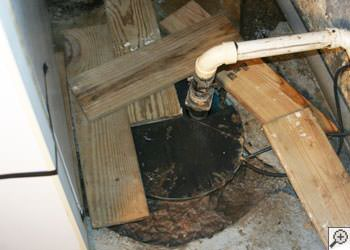 An ugly, clogged sump pump system in Jasper, Indiana and Kentucky