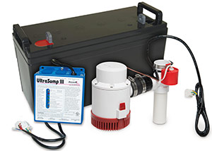 a battery backup sump pump system in Fort Knox