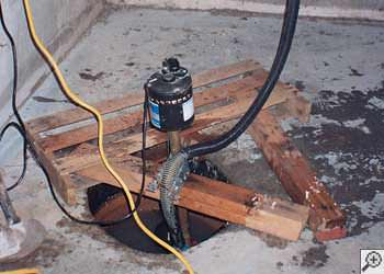A Spottsville sump pump system that failed and lead to a basement flood.