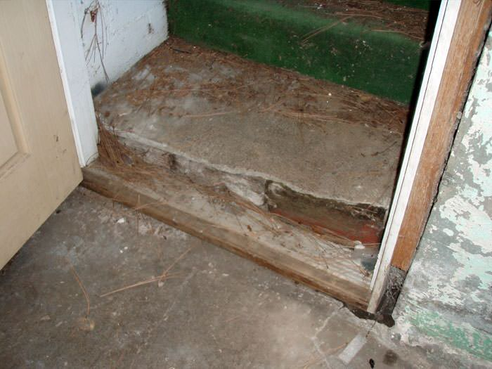 A Flooded Basement In Dawson Springs Where Water Entered Through The Hatchway  Door