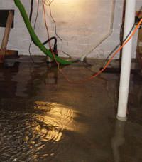 Several feet of floodwaters in a Chandler basement