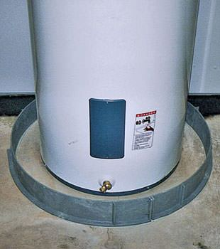 An old water heater in Philpot, IN and KY with flood protection installed