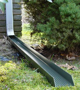 Gutter downspout extension installed in Rockport