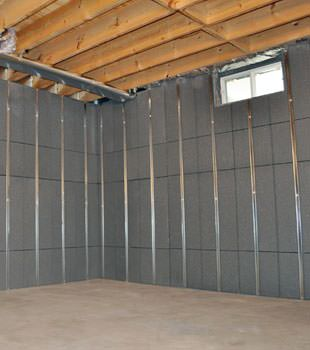 Installed basement wall panels installed in Washington