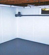 Plastic basement wall panels installed in a Sheperdsville, Indiana and Kentucky home